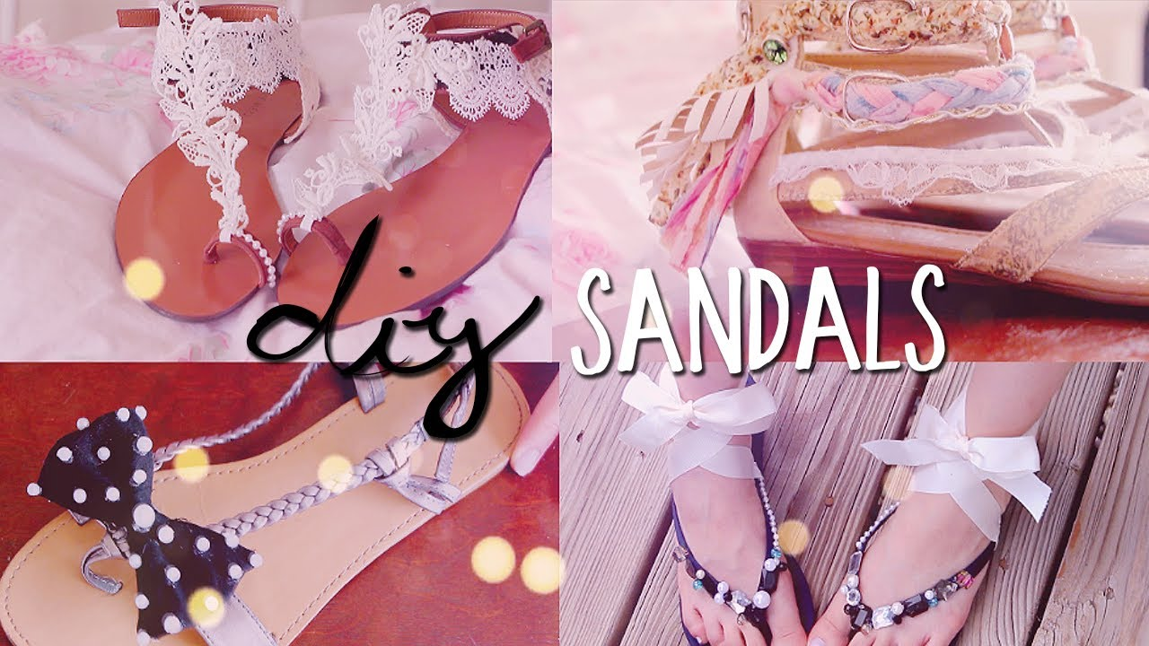 43b3c37d7 DIY Summer Sandals (4 styles) Redecorate   Restyle your Flip Flops ...