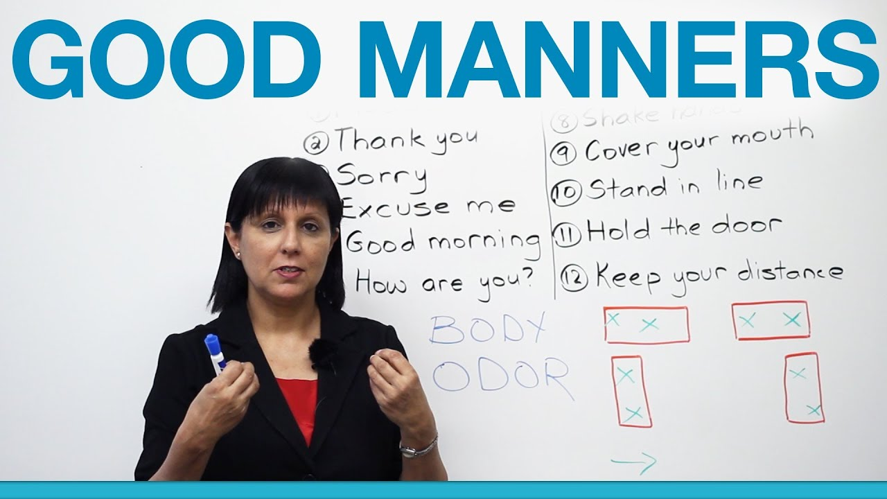 Essay on values of good manners video