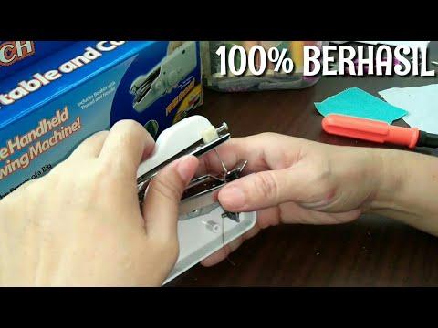 Memperbaiki Mesin Jahit Mini Handy Stitch Tidak Dapat Menjahit Youtube