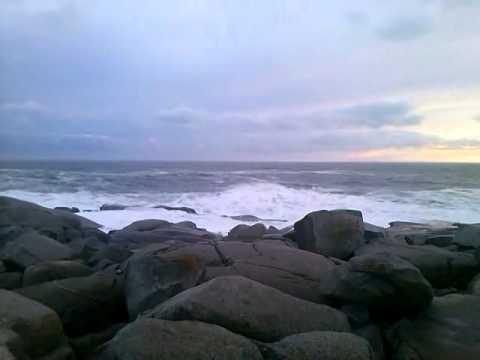 Large waves at Peggy's Cove Nova Scotia - January 12, 2014