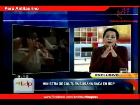 ministra-susana-baca,-contra-las-corridas-de-toro---perú-antitaurino-2011