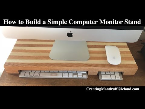 How to Build a Simple Computer Monitor Stand DIY
