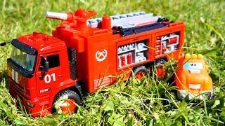 Мультики про машинки: Чак и его друзья! ПОЖАР - Тушение пожара! Мультик про Пожарную машину!(Мультфильм для детей -