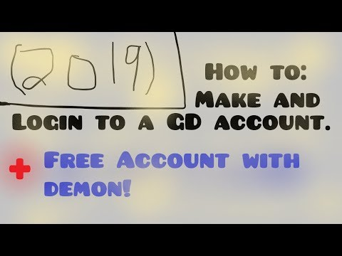 How To Create And Login To A GD Account + Account Giveaway! | Geometry Dash