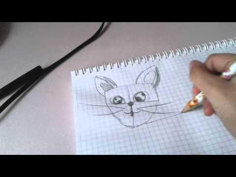 Как на рисовать кота-загадку!