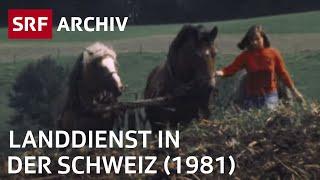 Landdienst (1981) | Stadtkinder erleben das Bauern | Landwirtschaft in der Schweiz |  SRF Archiv