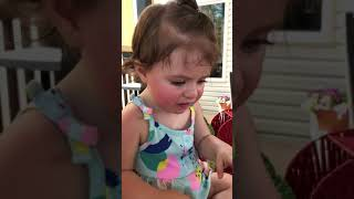 Babies crazy face after trying lime twice