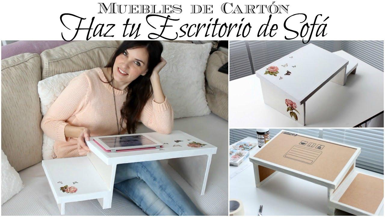 Muebles de Cartón | Como hacer un Escritorio de Sofá de Cartón - YouTube