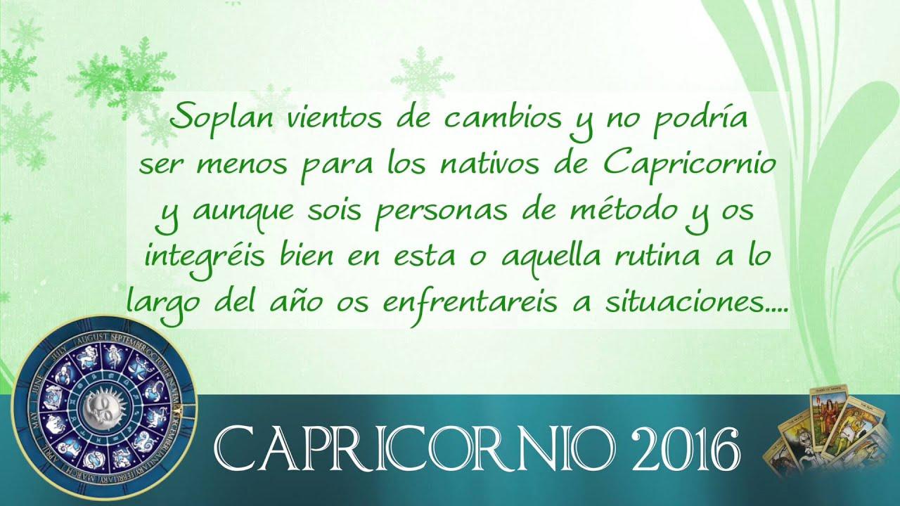 Capricornio Horoscopo 2016