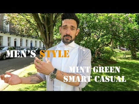 Men's Style / Mint Green Smart Casual / Carl Thompson