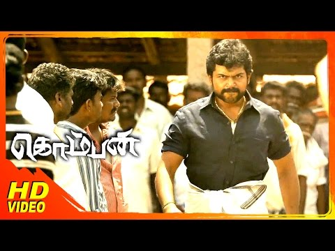 Komban Tamil Movie | Scenes | Karthi Fighits With Rowdies At Market | Thambi Ramaiah