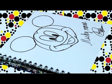 สอนวาดรูป การ์ตูน มิกกี้เม้าส์ | Mickey mouse