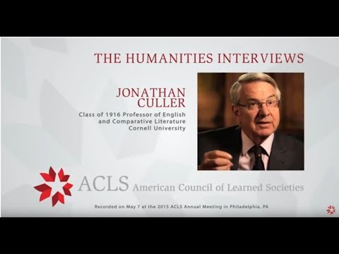The Humanities Interviews: Jonathan Culler
