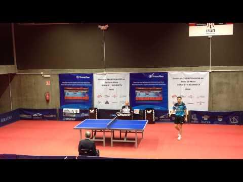 Jaime Vidal - Wei Dong Shi (Spanish Table Tennis Superdivision 2013/14) Set 3 of 3