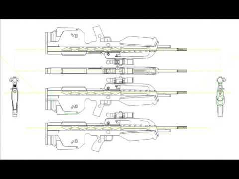 Halo3 weapons blueprints youtube halo3 weapons blueprints malvernweather Gallery