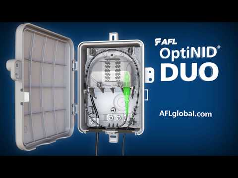 AFL's OptiNID Duo ultra-compact fiber demarcation enclosure