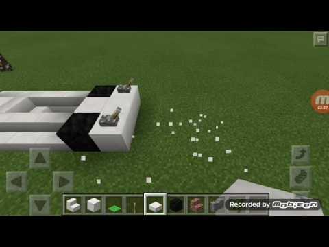 Cara membuat mobil F1 DI minecraft pe