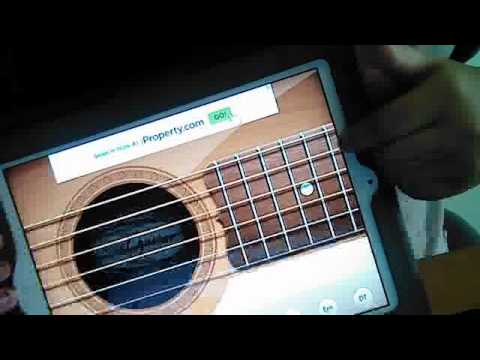 how to play guitar from real guitar or from ipad with the intro of ...