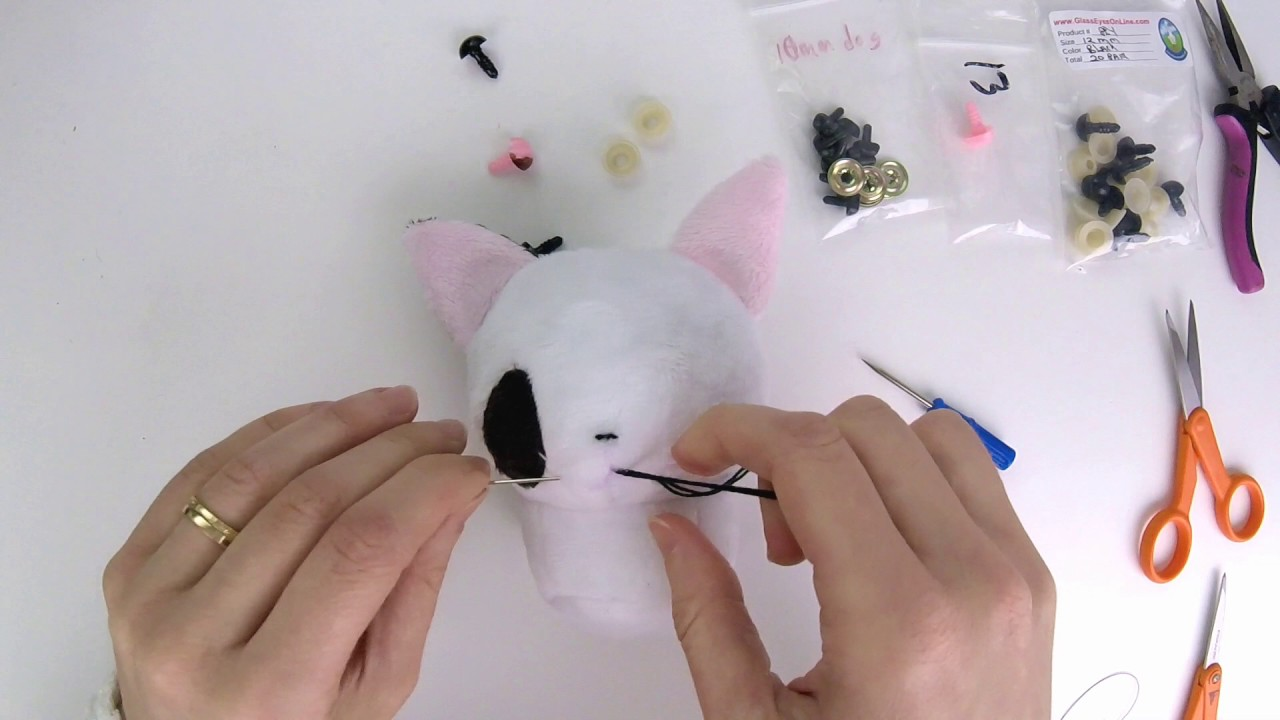 How To Make Plush: Easily Hand Embroider A Mouth And Hide Knots