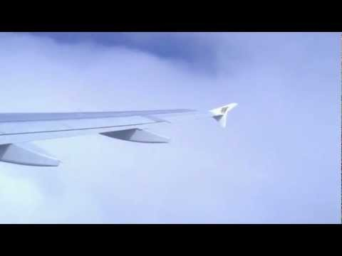 Take off from Sana'a on Gulf Air Airbus A320-200