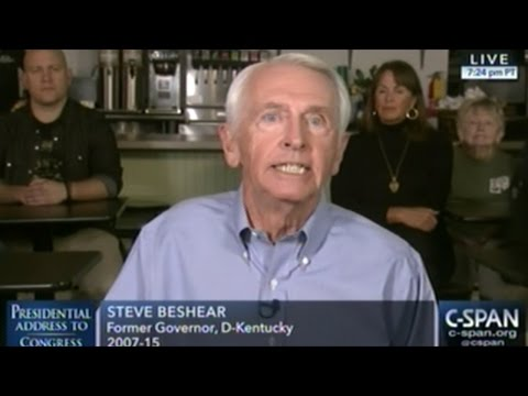 Steve Beshear Gives Democrat's Response To President Trump Addressing Joint Session Of Congress