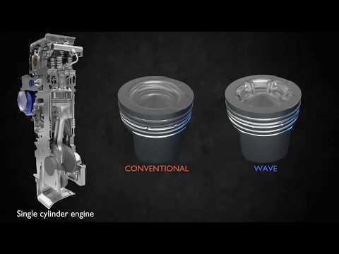 Wave piston design lowers fuel consumption