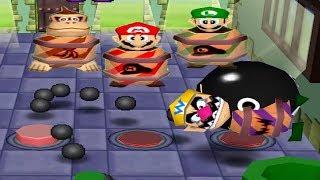 Mario Party 2 - 4 Player Battle Minigames - Wario Mario Luigi DK All Funny Minigames (Master CPU)