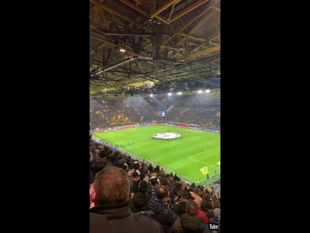 2018-2019 - Dortmund-Club Brugge - Opkomst Spelers + Champions League Hymne