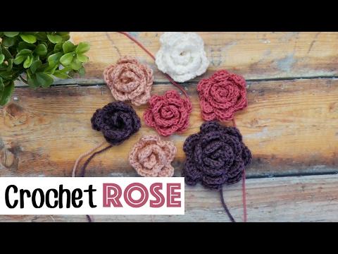 Quick & Easy Crochet Rose   Sewrella