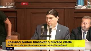 Rozprava k důvěře vlády: digitální česko očima O. Profanta