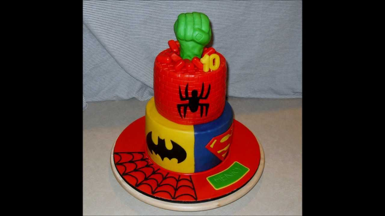 Birthday Superhero Cake