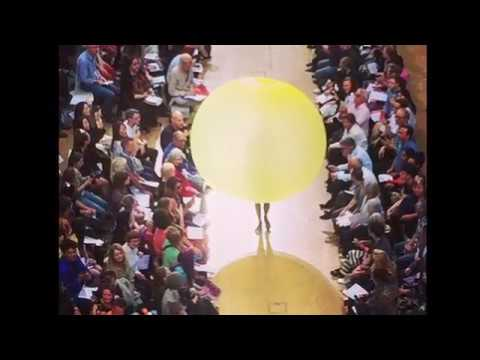Central Saint Martins Amazing Balloon Dress Fashion Show  2019