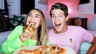 VEGAN PIZZA MUKBANG AND Q&A WITH BEN! | MyLifeAsEva