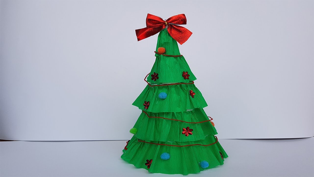 How To Make Christmas Tree From Crepe Paper