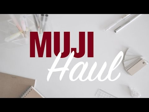 ✏ MUJI Haul | Stationery, notebooks +