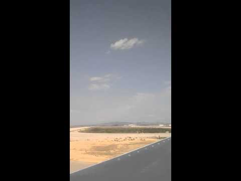 Taking off from enfidha in tunisia