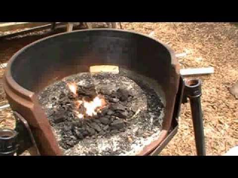 Homemade Blacksmith Forge - Crawfordville - YouTube