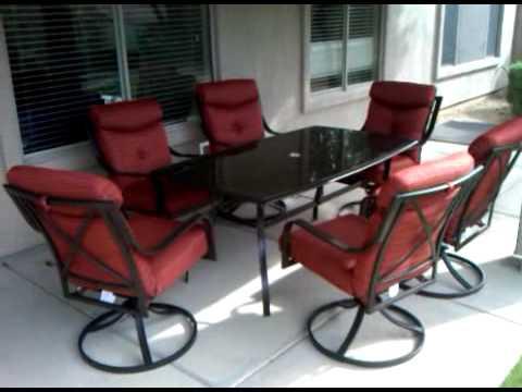 fry s marketplace monarch 7 piece patio set 3gp youtube rh youtube com