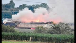 Freight Train Derails & Explodes In Indiana Causing Evacuation, Huge Fireball