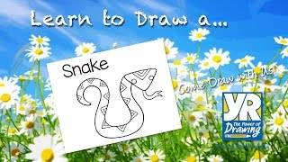 Teaching Kids How to Draw: How to Draw a Snake