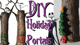 Gambar cover DIY Holiday Portal Trees from Tim Burton's The Nightmare Before Christmas