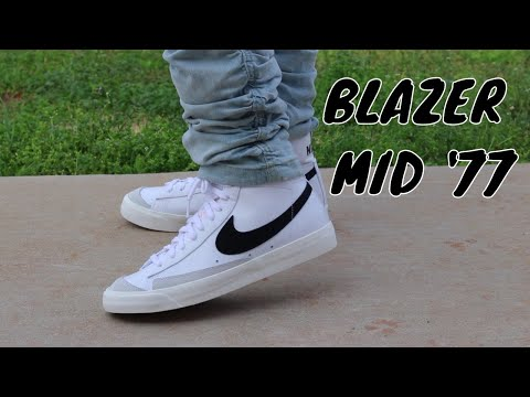 NIKE BLAZER MID 77 REVIEW + ON FOOT!!! - YouTube