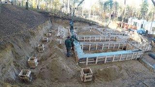 Строим дом из бруса на горном участке !!!!