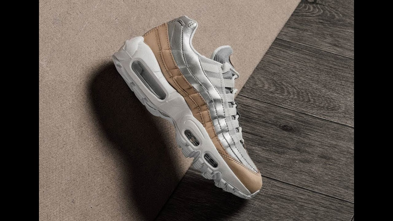 3791ea5eee6 A Tan And Silver Pairing Comes To This Air Max 95 For Women - YouTube
