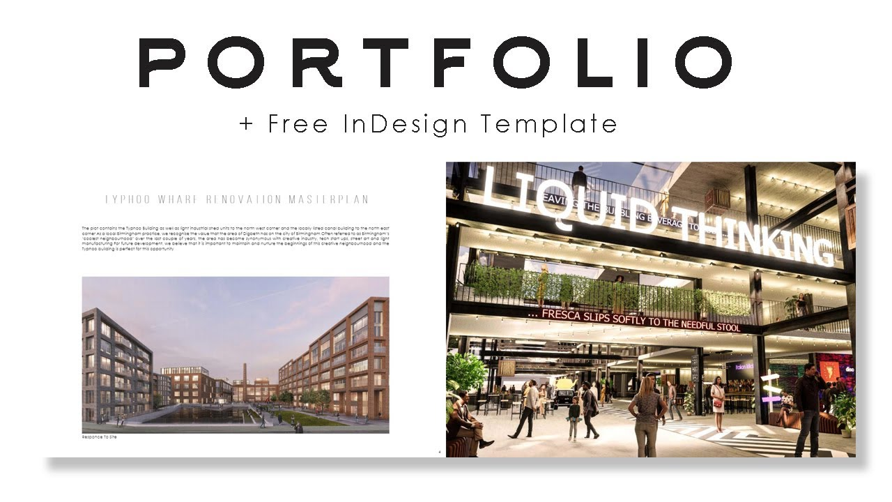 Architecture Portfolio Indesign Tutorial Free Template Give Away Youtube