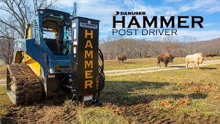Video still for PROOF: Hammer Post Driver for Skid Steers & Tractors is the Attachment You Are Looking For