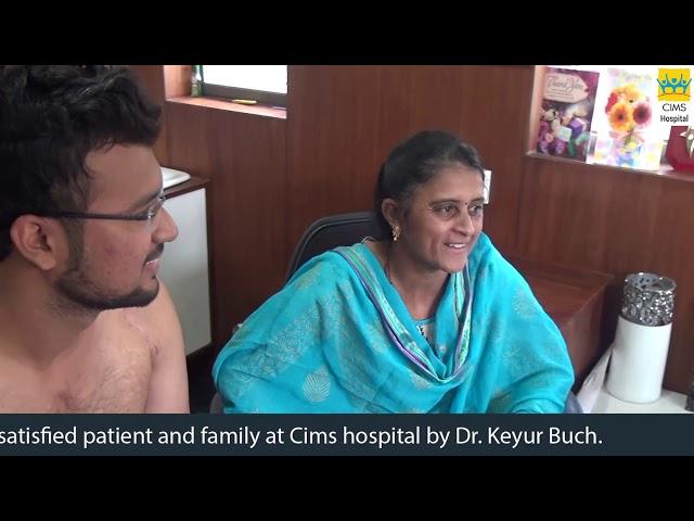 World Best Shoulder Arthroscopy & Stabilization - Dr. Keyur Buch.Patient Testimonial : CIMS Hospital