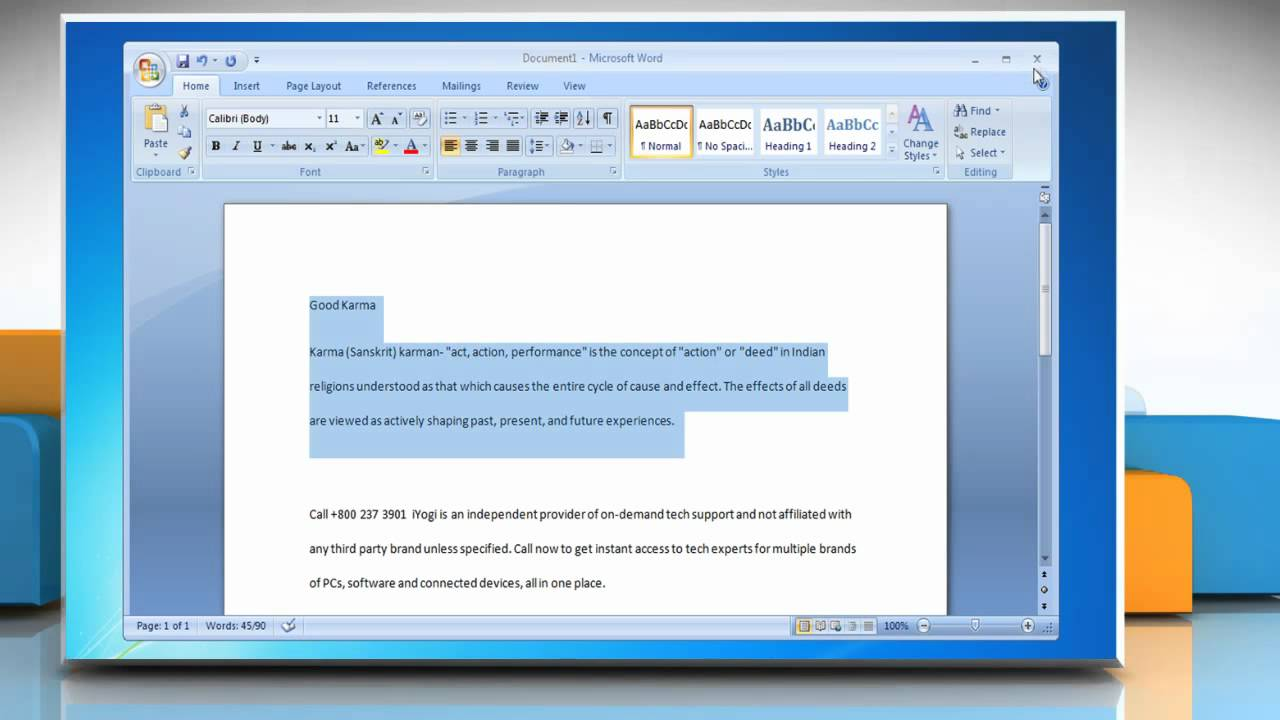 how to double space lines in microsoft® word 2007