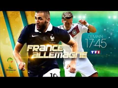 ba france allemagne demain 17h45 tf1 3 7 2014 fifa world cup brazil bresil coupe du monde youtube. Black Bedroom Furniture Sets. Home Design Ideas