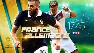 Ba France Allemagne demain 17h45 TF1 3 7 2014 Fifa world cup brazil bresil coupe du monde